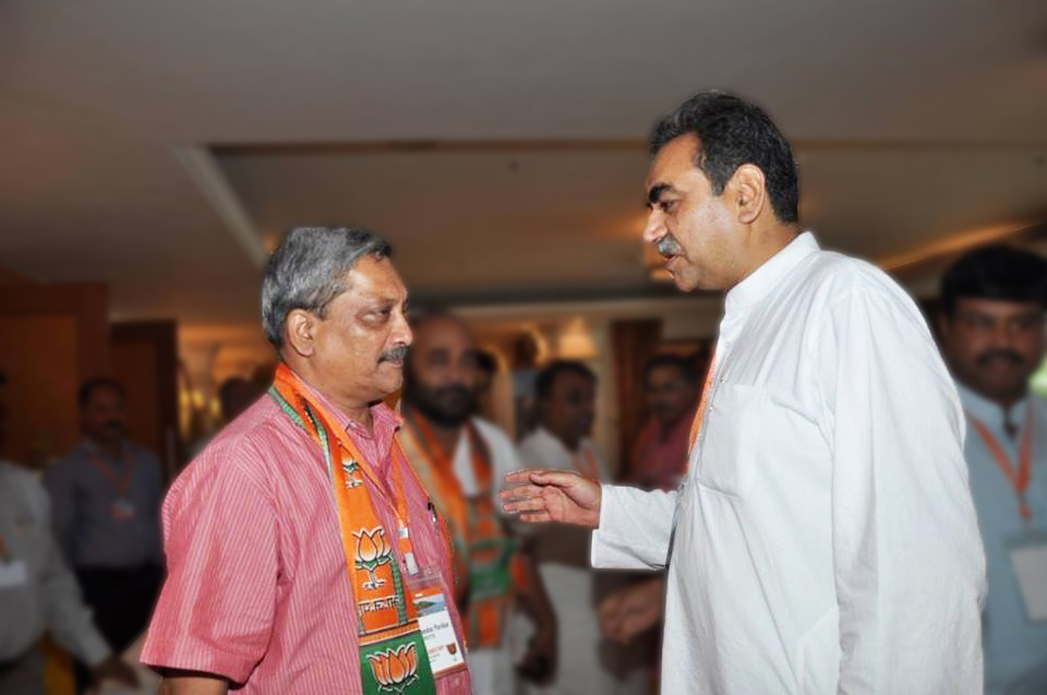 Manohar Parrikar and Sanjay Tandon