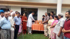 The memebers of District No. 1 of the Bharatiya Janata Party, Chandigarh paid homage to Dr Shyama Prasad Mukherjee on his 66th death anniversary on Sunday