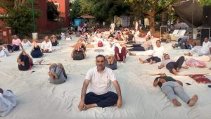 """""""योग तन को ही नहीं मन और मस्तिष्क को भी स्फूर्ति से भर देता है। """" यह कहना है भारतीय जनता पार्टी चंडीगढ़ के प्रदेशाध्यक्ष संजय टंडन का ।"""